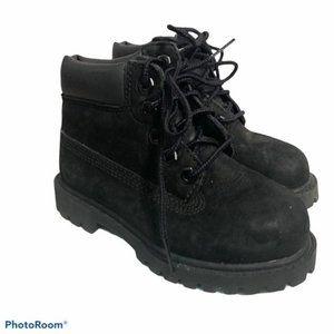 boys 8 Timberland nubuck boots black classic toddl